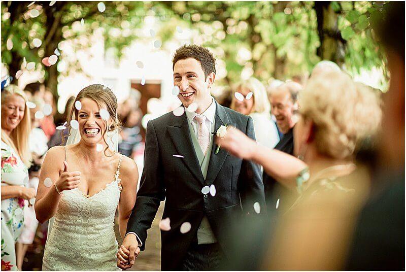 confetti at a thornton manor wedding