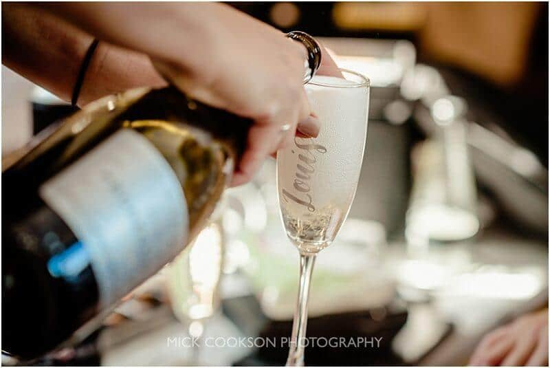 champagne reception at the fisherman's retreat