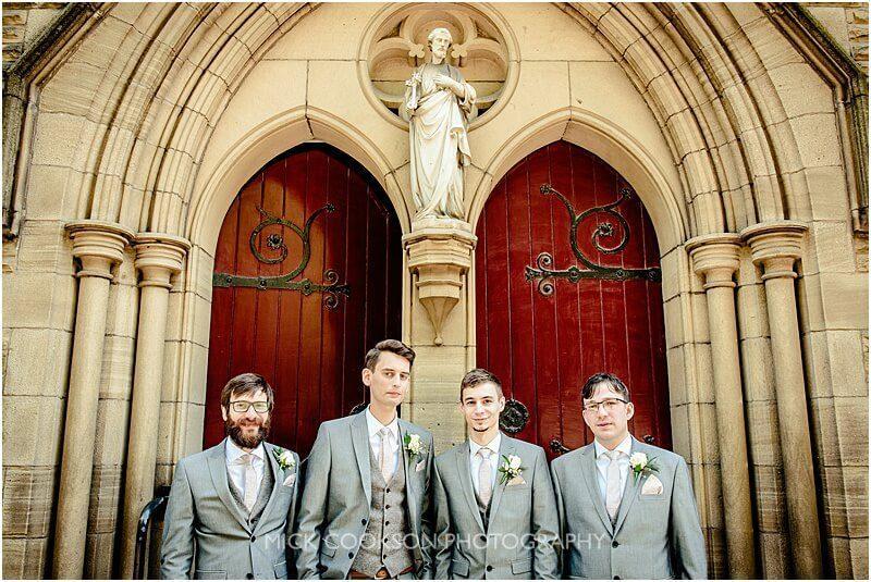 stylish groomsmen photo in ramsbottom