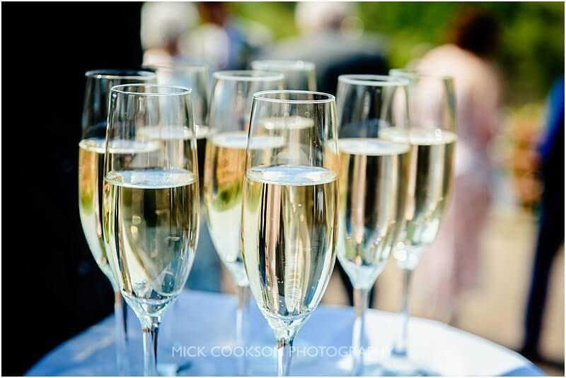 champagne at a wedding at the fishermans retreat