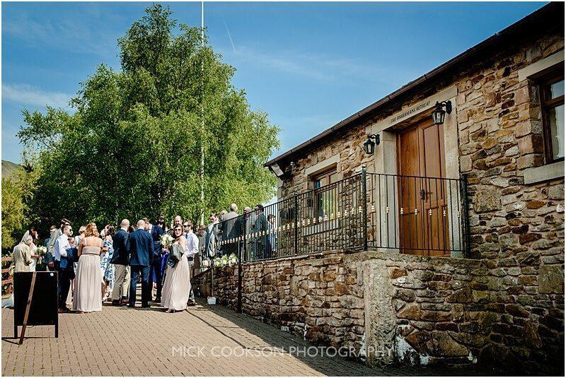 wedding guests enjoying the sun at a fishermans retreat wedding