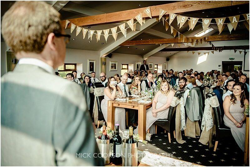 wedding guests listening to the speeches at the fishermans retreat