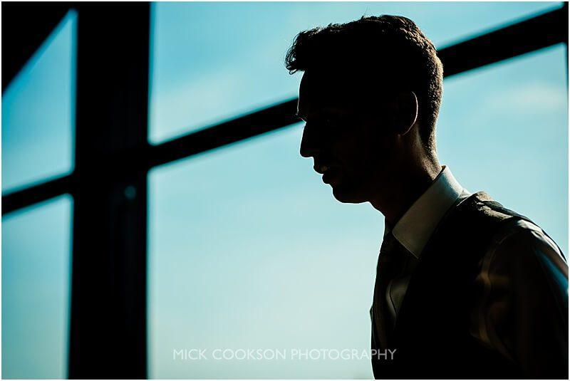 silhouette of groom speech at the fishermans retreat