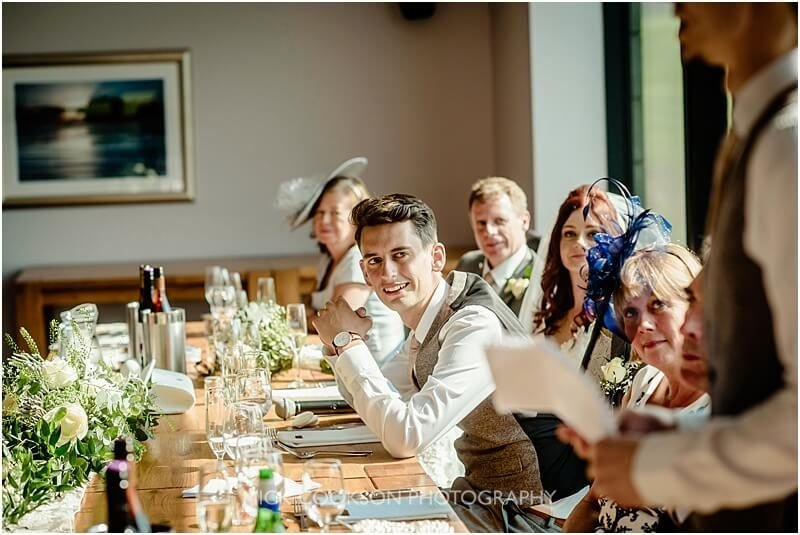 best man embarrasses the groom at the fishermans retreat