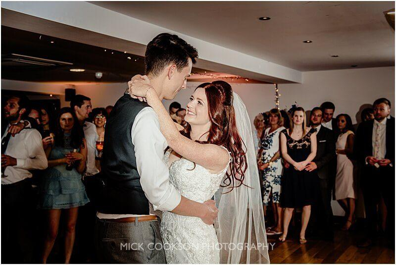 first dance wedding image at the fishermans retreat by mick cookson photography
