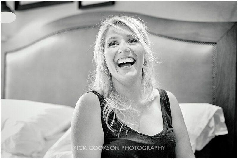 happy bridesmaid at king street town house taken by manchester wedding photographer mick cookson