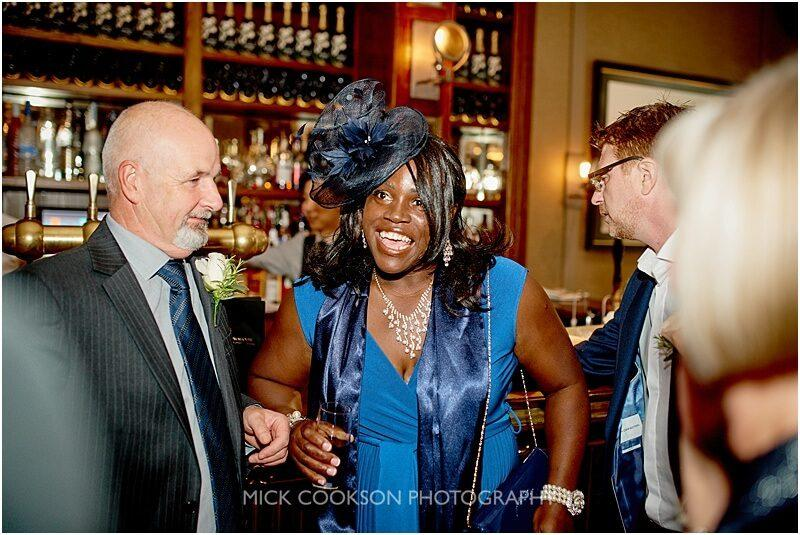 afro caribbean wedding guests at king street town house
