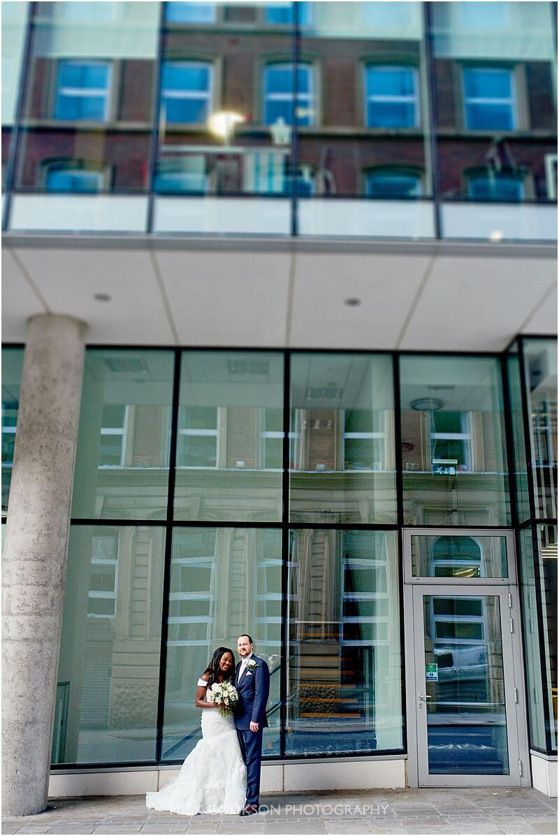bride and groom wedding photo taken by manchester wedding photographer mick cookson