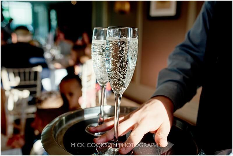 champagne at a king street townhouse wedding