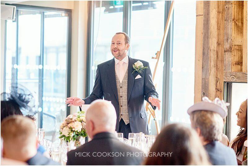 groom speech at a king street townhouse wedding