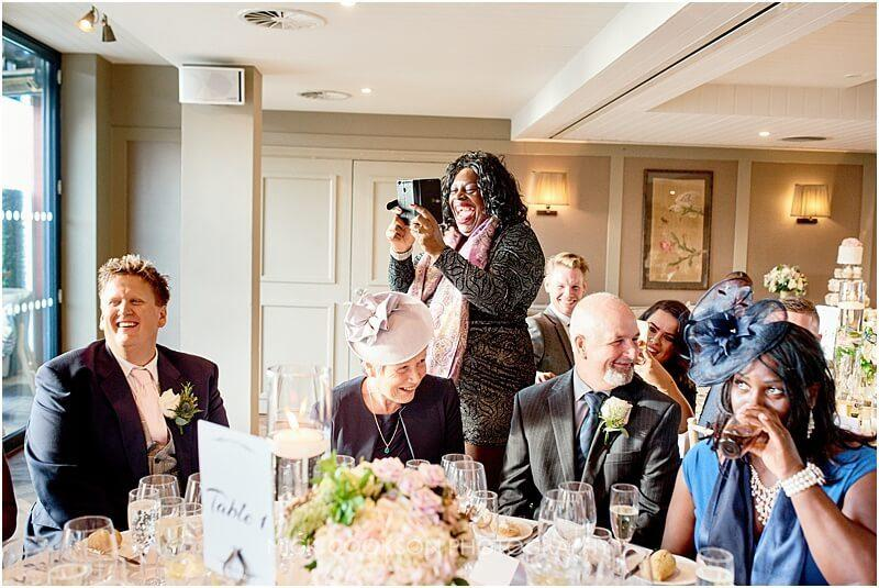 laughing wedding guest at king street townhouse