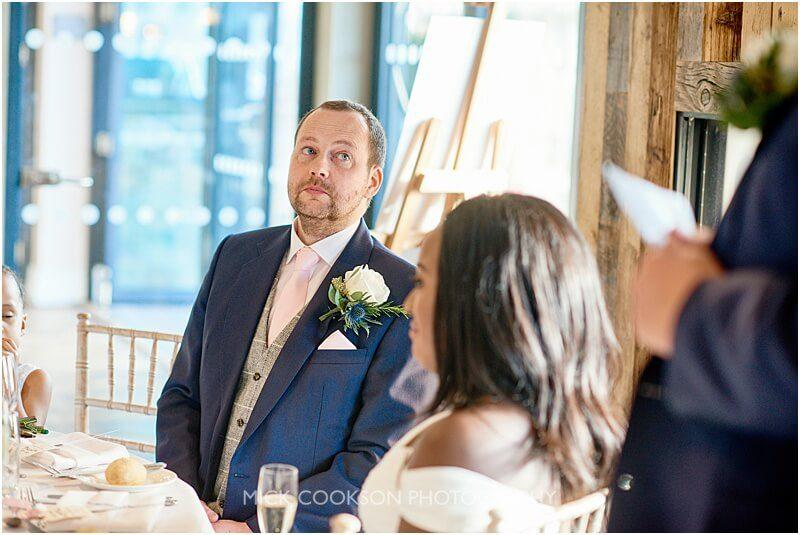 groom at his king street townhouse wedding