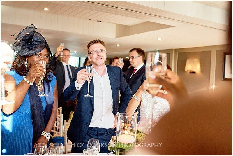 toasts at a king street townhouse wedding