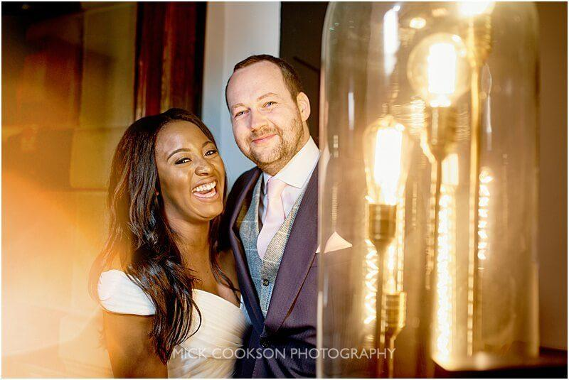 bride and groom wedding photo at king street townhouse taken by manchester wedding photographer mick cookson