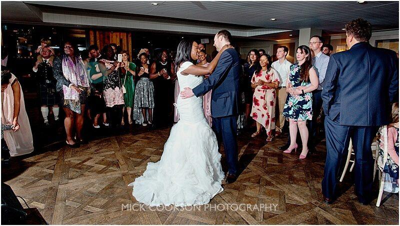 bride and groom first dance wedding photo at king street townhouse
