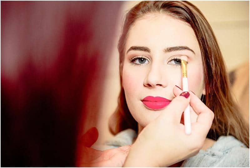 makeup photo by bashall barn wedding photographer mick cookson