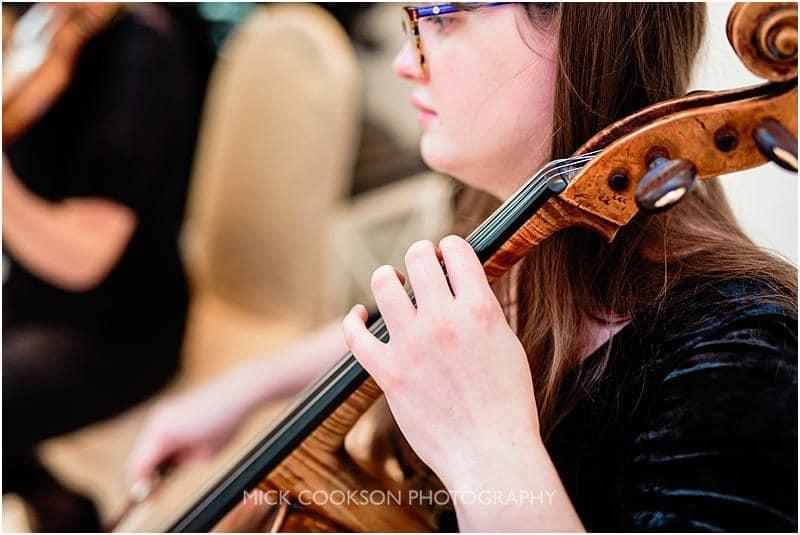 string quartet at a gibbon bridge winter wedding