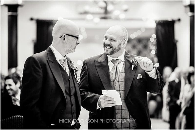 happy groom at gibbon bridge