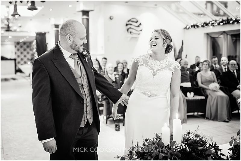 just married at a gibbon bridge winter wedding
