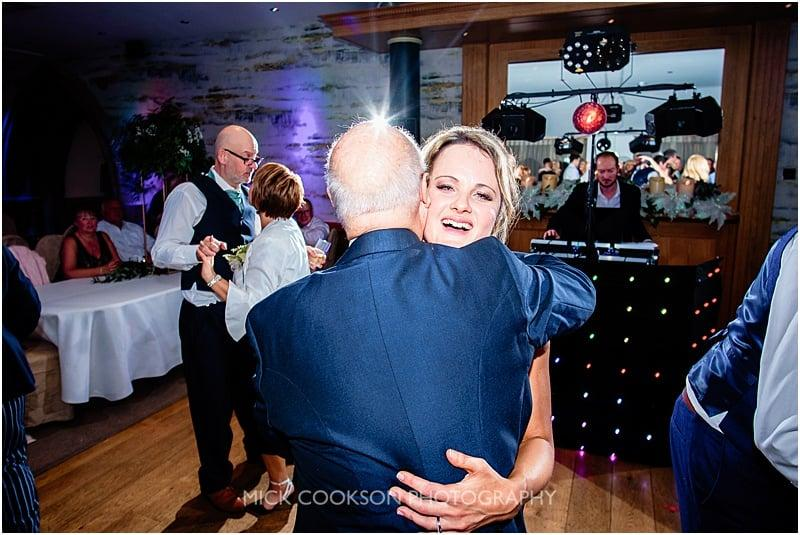 daddy daughter dance at a gibbon bridge winter wedding