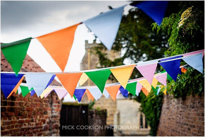 bunting for a village wedding