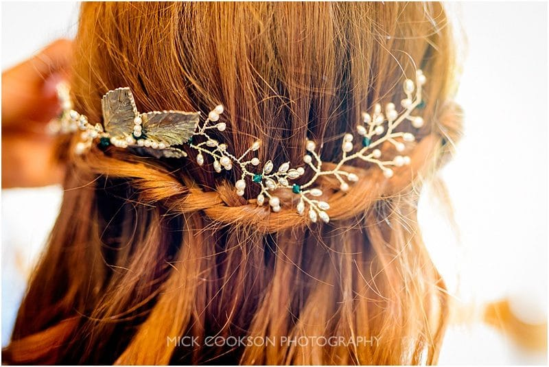 flower garland for the brides hair