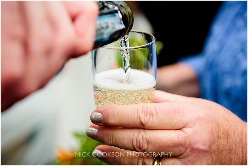 champagne toast at a north yorkshire wedding ceremony