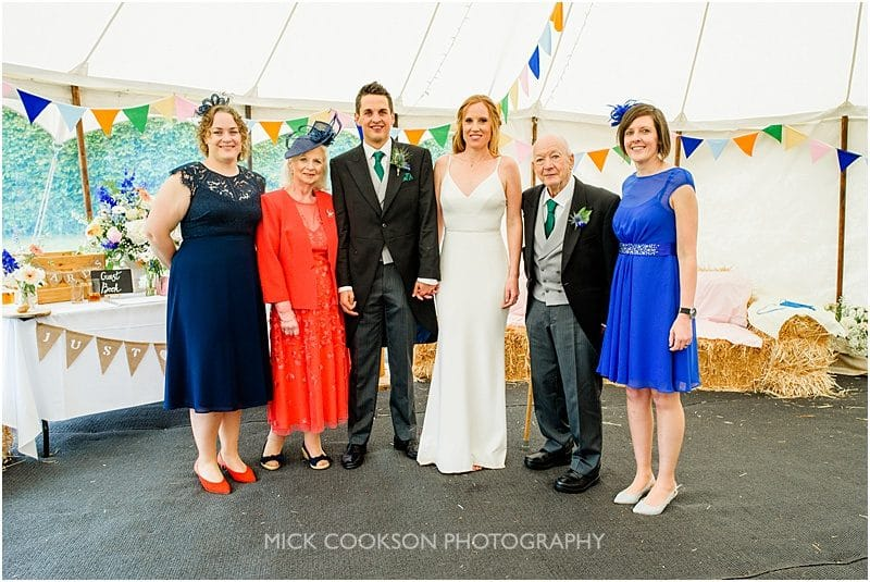 family photos at a marquee wedding in york
