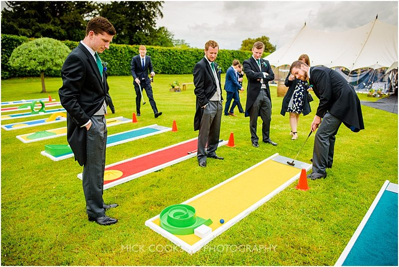 games at a marquee wedding in york