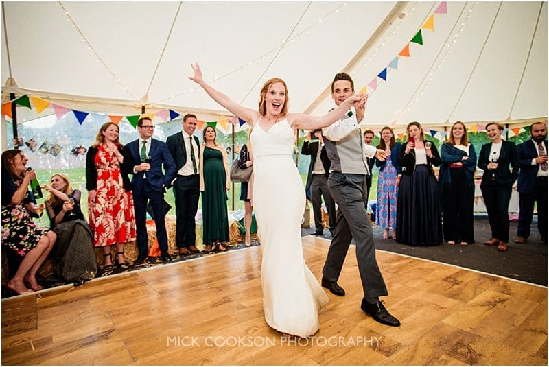 first dance at a marquee wedding in york